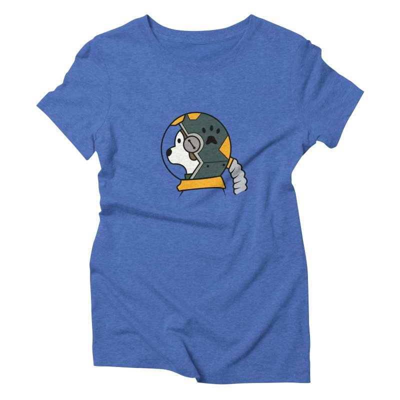 Space Dog Women's T-Shirt by Svaeth's Artist Shop