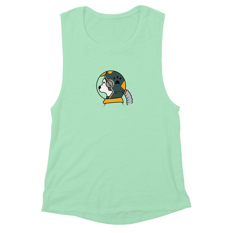Space Dog Women's Muscle Tank by Svaeth's Artist Shop