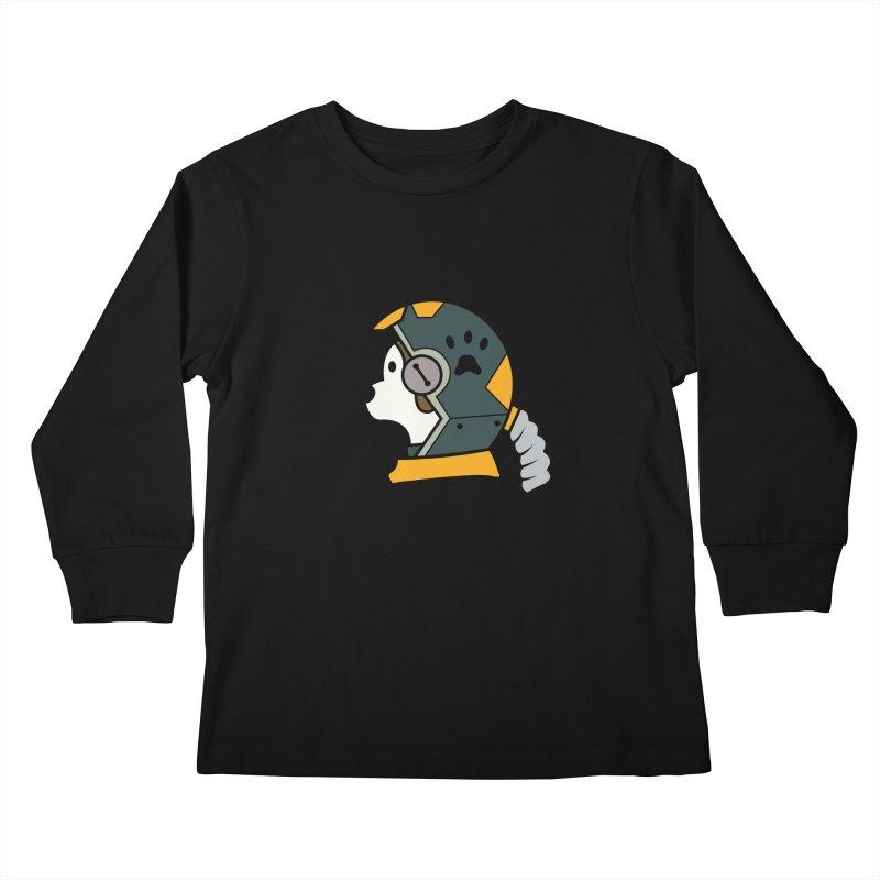 Space Dog Kids Longsleeve T-Shirt by Svaeth's Artist Shop