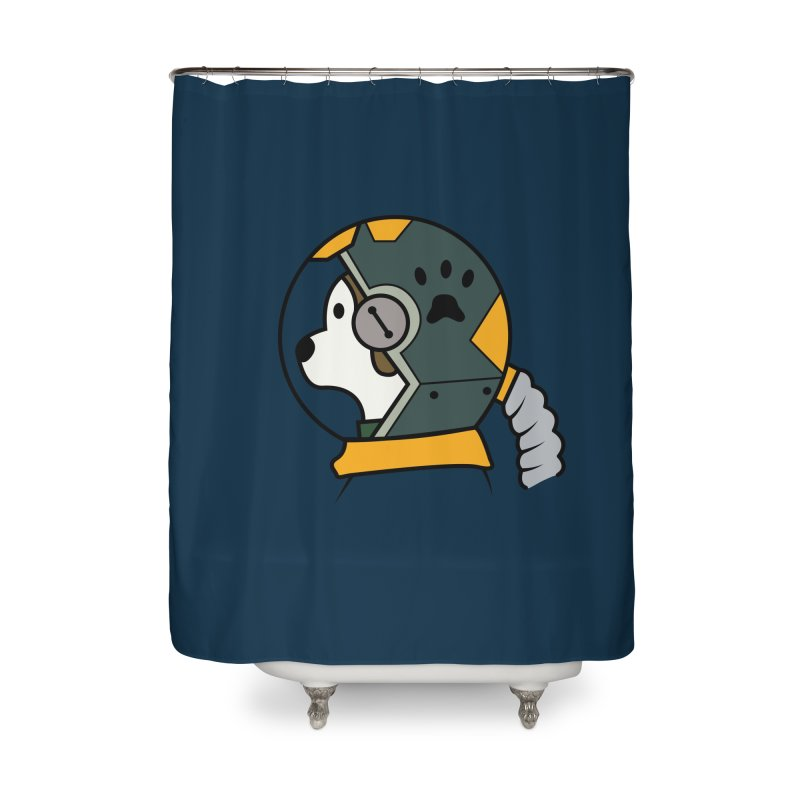 Space Dog Home Shower Curtain by Svaeth's Artist Shop