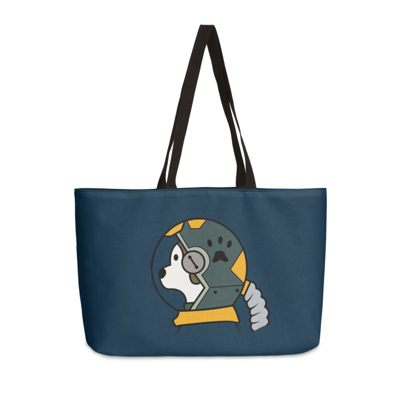 Space Dog Accessories Weekender Bag Bag by Svaeth's Artist Shop