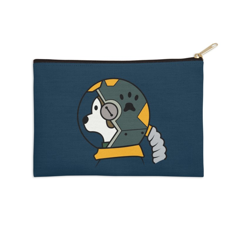Space Dog Accessories Zip Pouch by Svaeth's Artist Shop