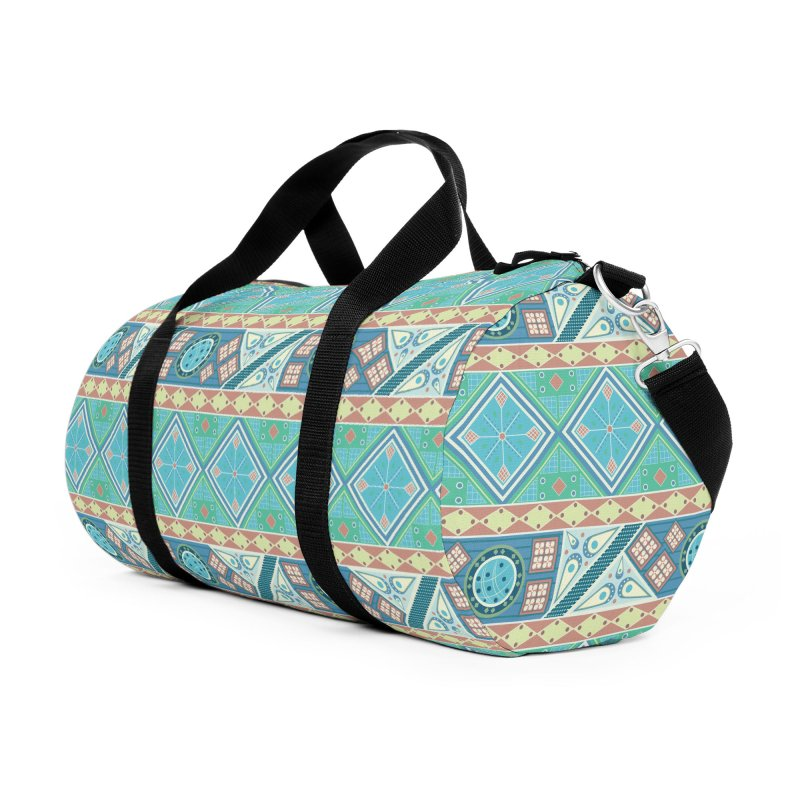 Pysanky Accessories Duffel Bag Bag by Svaeth's Artist Shop