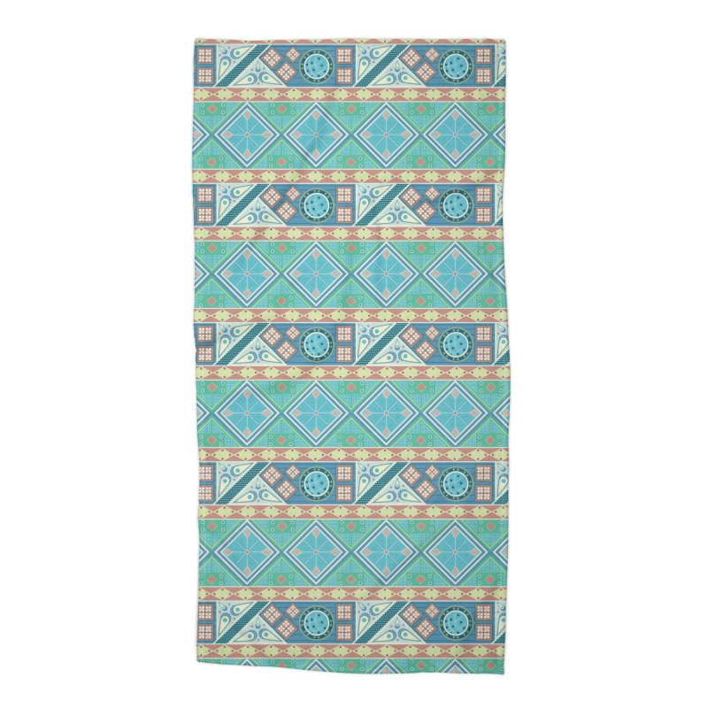 Pysanky Accessories Beach Towel by Svaeth's Artist Shop