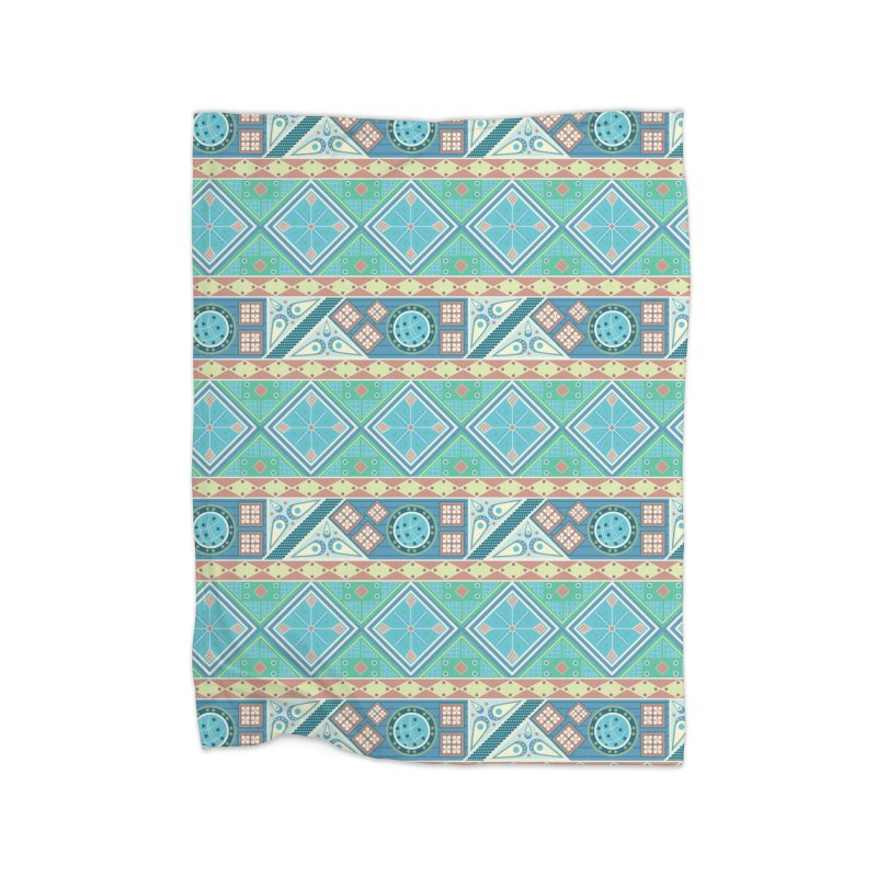 Pysanky Home Fleece Blanket Blanket by Svaeth's Artist Shop