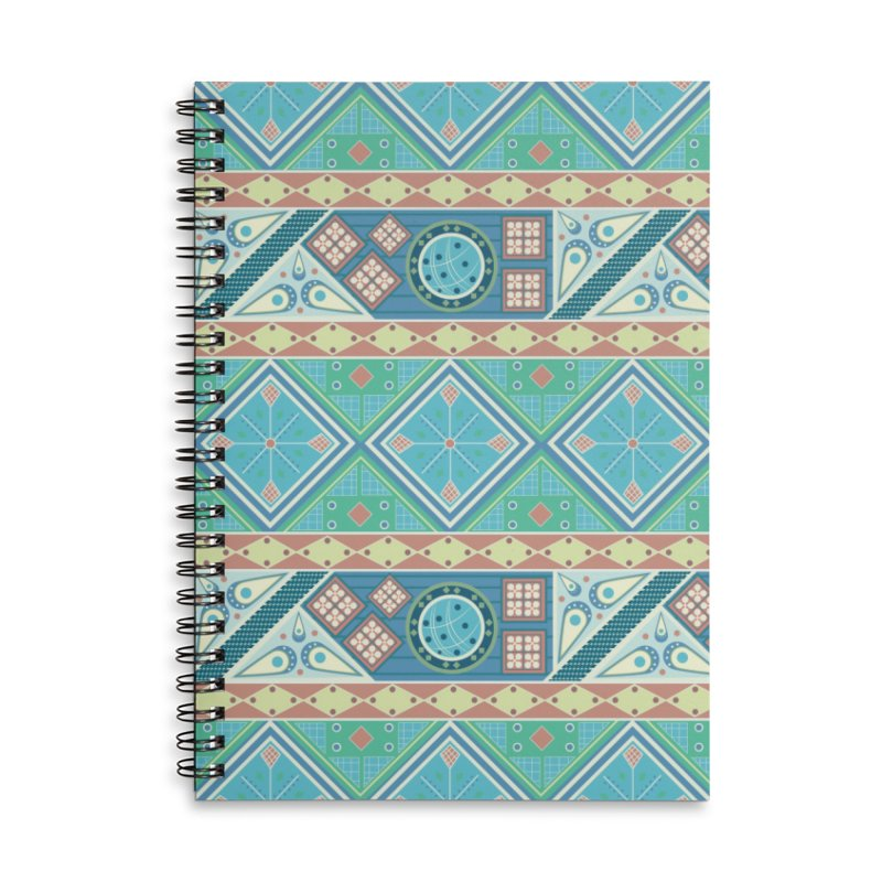 Pysanky Accessories Lined Spiral Notebook by Svaeth's Artist Shop
