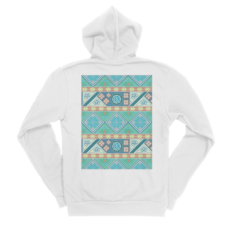 Pysanky Men's Sponge Fleece Zip-Up Hoody by Svaeth's Artist Shop