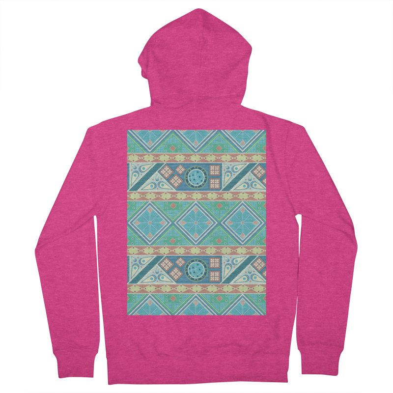 Pysanky Women's French Terry Zip-Up Hoody by Svaeth's Artist Shop