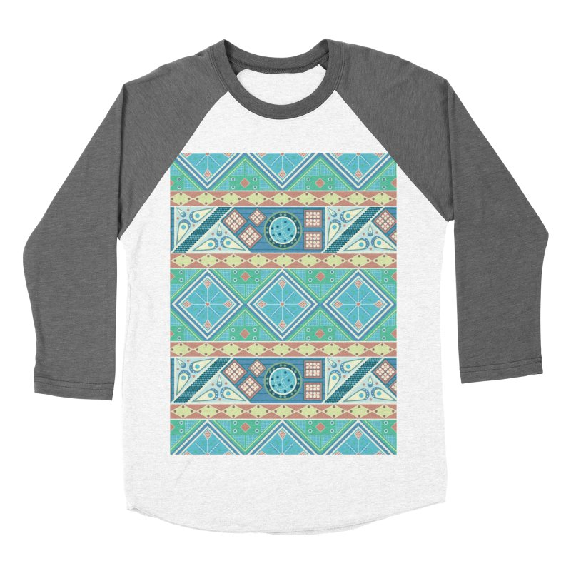 Pysanky Women's Baseball Triblend Longsleeve T-Shirt by Svaeth's Artist Shop