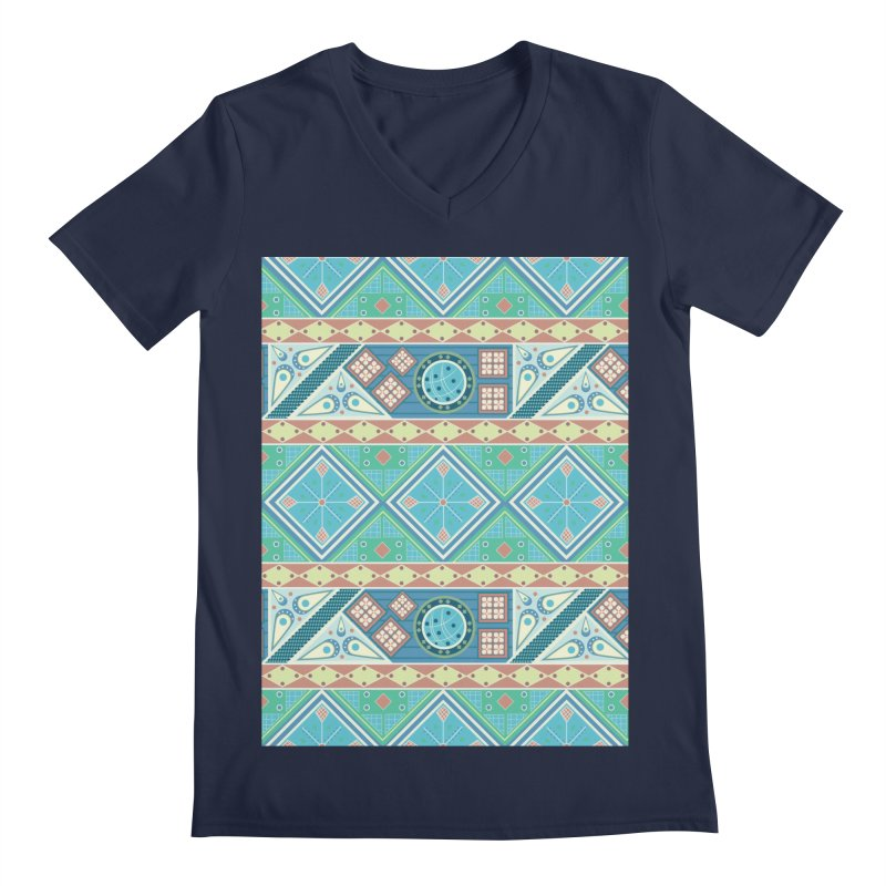 Pysanky Men's Regular V-Neck by Svaeth's Artist Shop