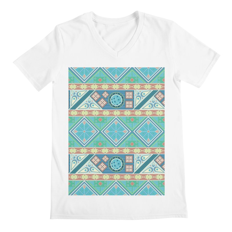 Pysanky Men's V-Neck by Svaeth's Artist Shop