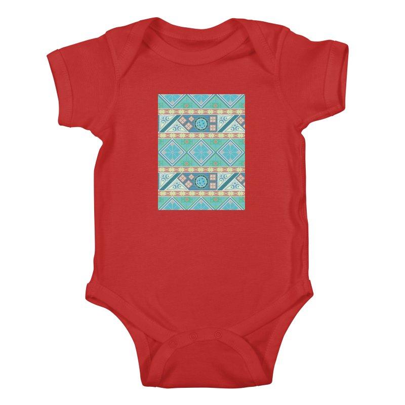 Pysanky Kids Baby Bodysuit by Svaeth's Artist Shop