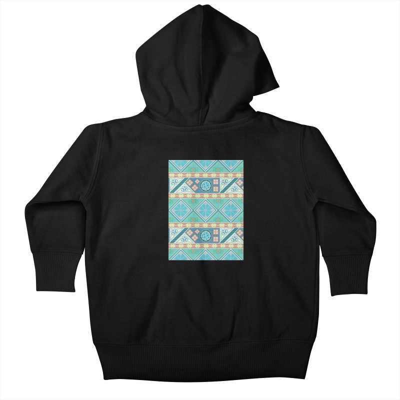 Pysanky Kids Baby Zip-Up Hoody by Svaeth's Artist Shop