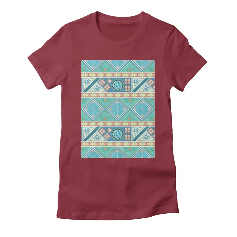 Pysanky Women's Fitted T-Shirt by Svaeth's Artist Shop