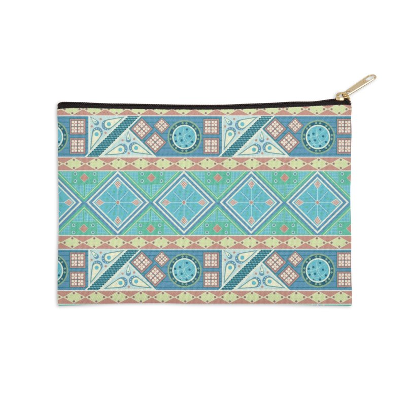 Pysanky Accessories Zip Pouch by Svaeth's Artist Shop