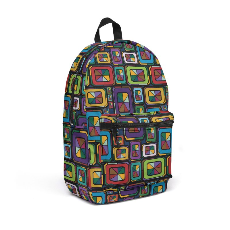Stained Glass Gems Accessories Backpack Bag by Svaeth's Artist Shop