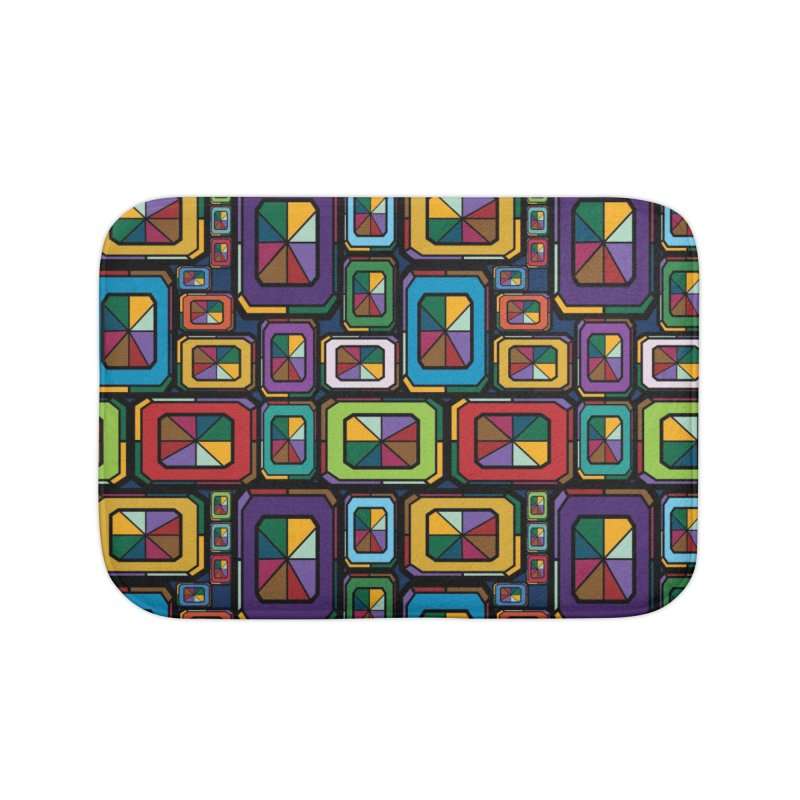 Stained Glass Gems Home Bath Mat by Svaeth's Artist Shop