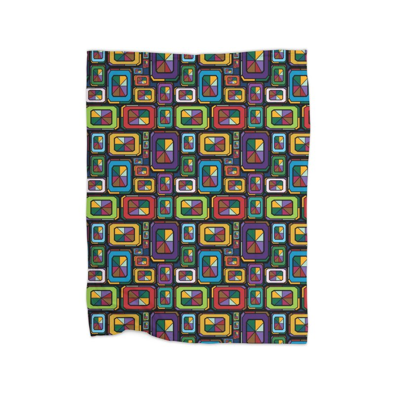 Stained Glass Gems Home Fleece Blanket Blanket by Svaeth's Artist Shop