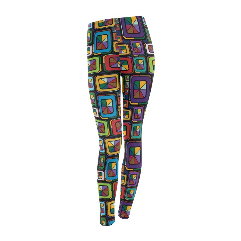 Stained Glass Gems Women's Leggings Bottoms by Svaeth's Artist Shop