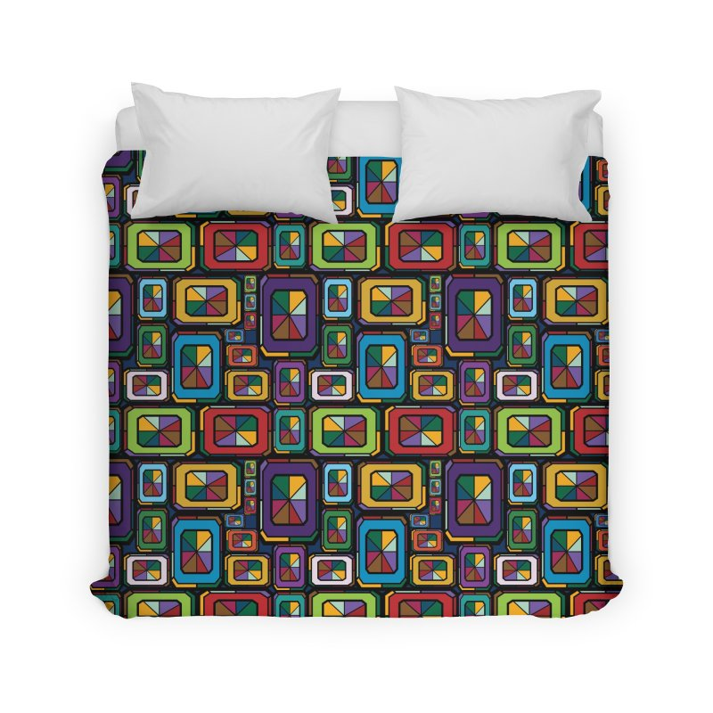 Stained Glass Gems Home Duvet by Svaeth's Artist Shop