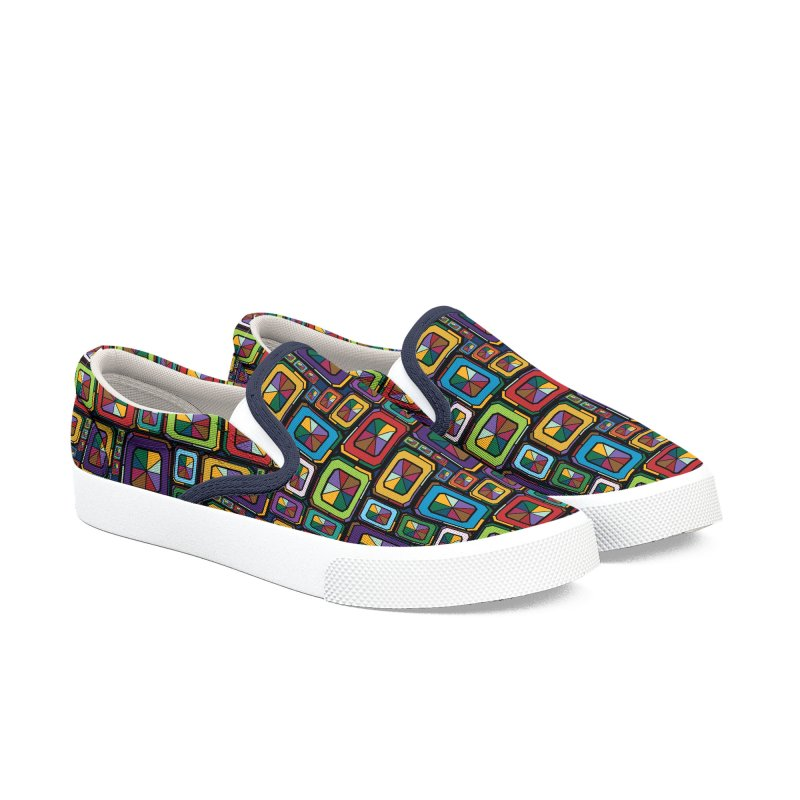 Stained Glass Gems Women's Slip-On Shoes by Svaeth's Artist Shop