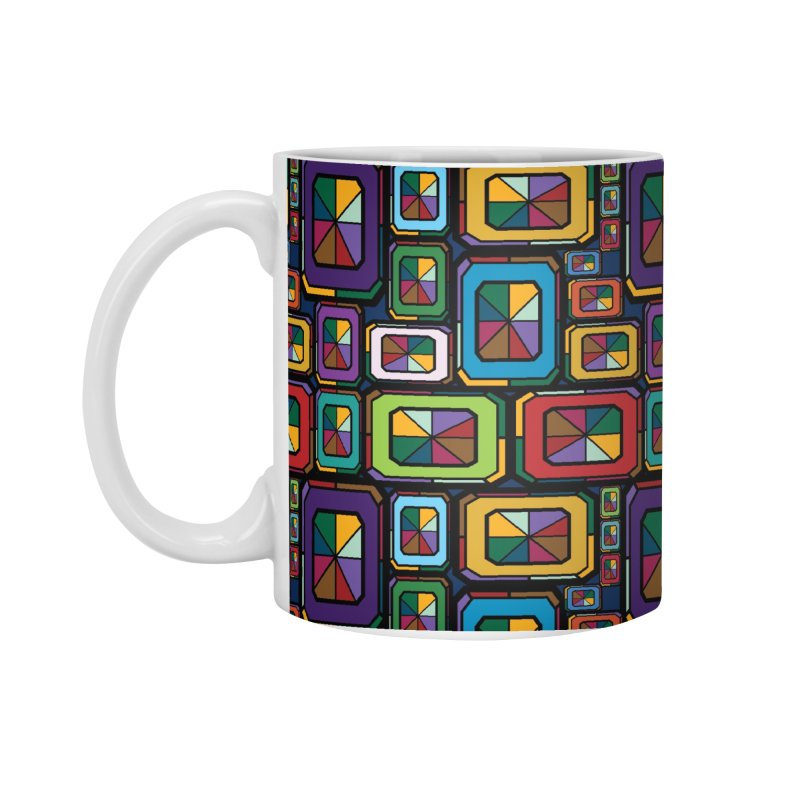 Stained Glass Gems Accessories Standard Mug by Svaeth's Artist Shop