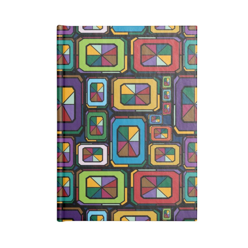 Stained Glass Gems Accessories Blank Journal Notebook by Svaeth's Artist Shop