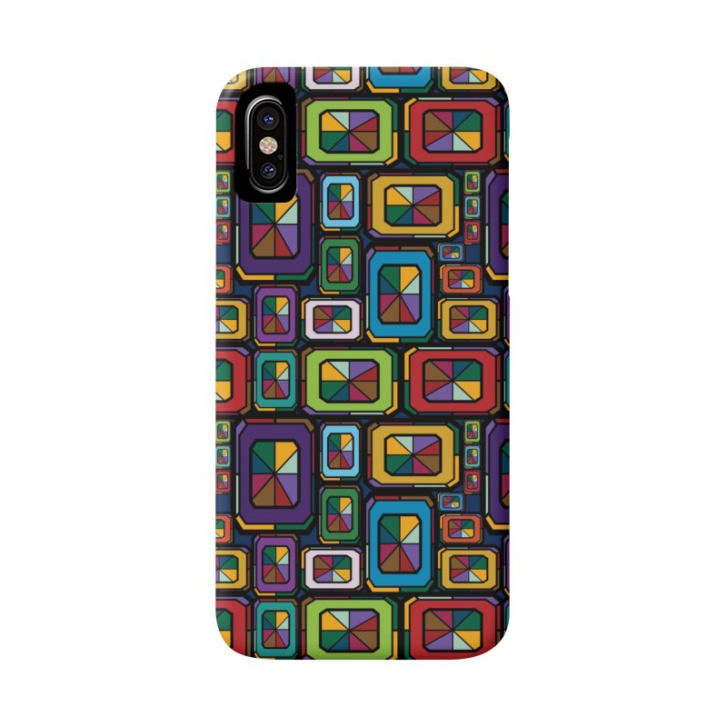 Stained Glass Gems Accessories Phone Case by Svaeth's Artist Shop