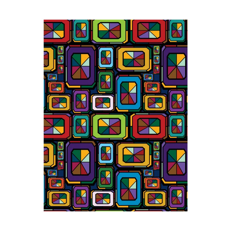 Stained Glass Gems Home Mounted Aluminum Print by Svaeth's Artist Shop