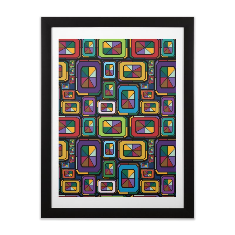 Stained Glass Gems Home Framed Fine Art Print by Svaeth's Artist Shop