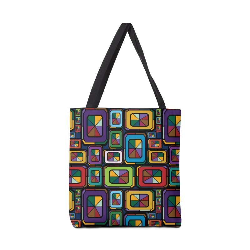 Stained Glass Gems Accessories Tote Bag Bag by Svaeth's Artist Shop