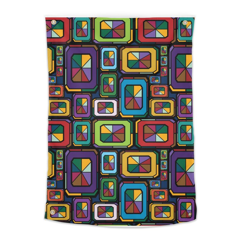 Stained Glass Gems Home Tapestry by Svaeth's Artist Shop