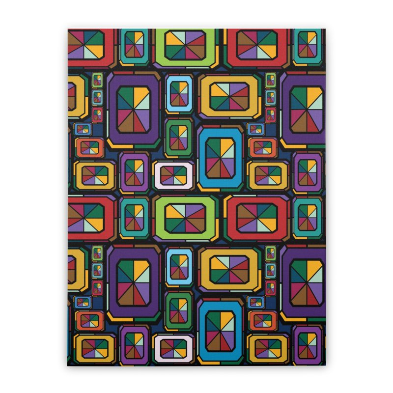 Stained Glass Gems Home Stretched Canvas by Svaeth's Artist Shop