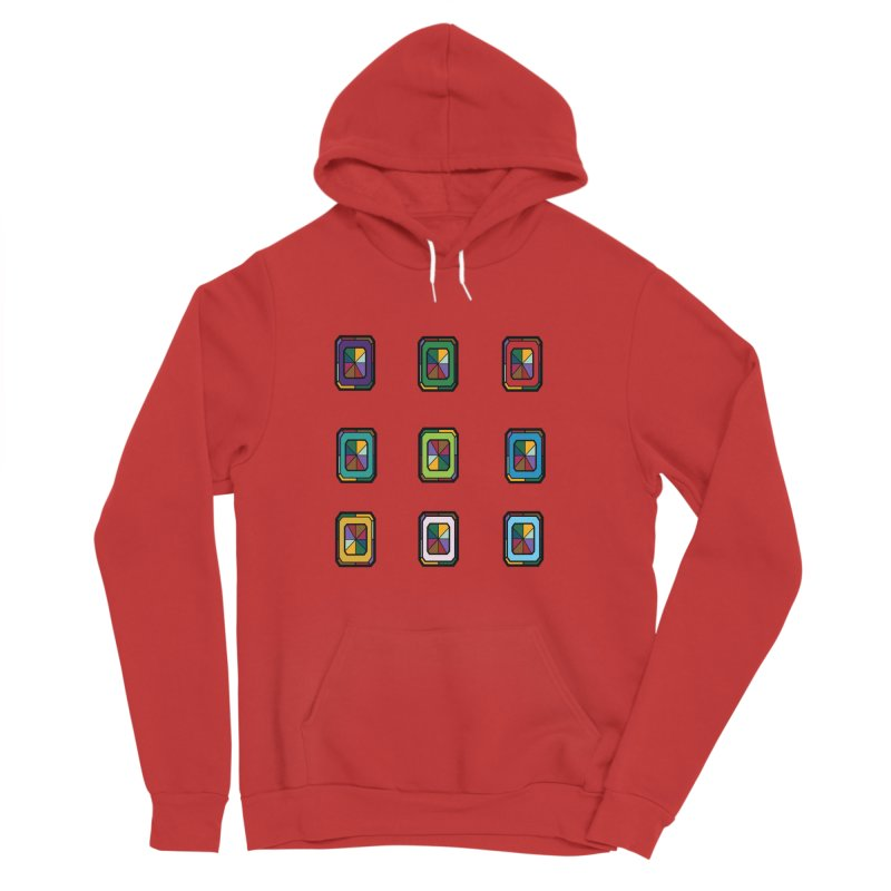 Stained Glass Gems Men's Pullover Hoody by Svaeth's Artist Shop
