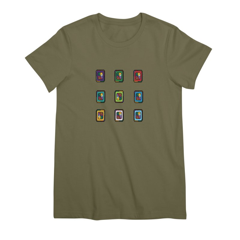 Stained Glass Gems Women's Premium T-Shirt by Svaeth's Artist Shop