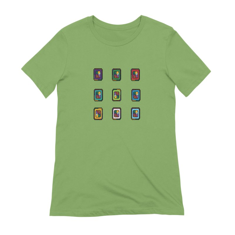 Stained Glass Gems Women's Extra Soft T-Shirt by Svaeth's Artist Shop