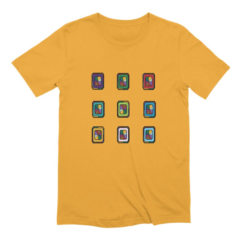 Stained Glass Gems Men's Extra Soft T-Shirt by Svaeth's Artist Shop