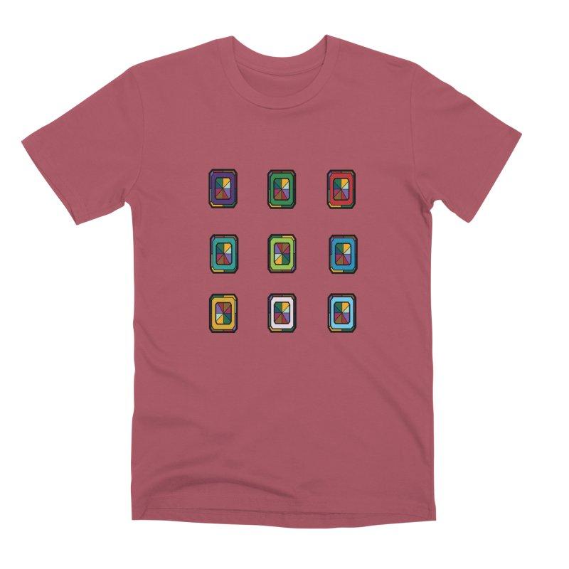 Stained Glass Gems Men's Premium T-Shirt by Svaeth's Artist Shop