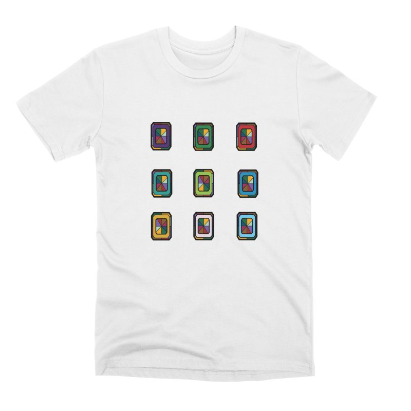 Stained Glass Gems Men's Premium T-Shirt by Svaeth's Artist Shop