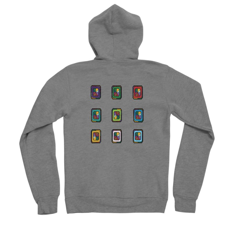 Stained Glass Gems Women's Zip-Up Hoody by Svaeth's Artist Shop