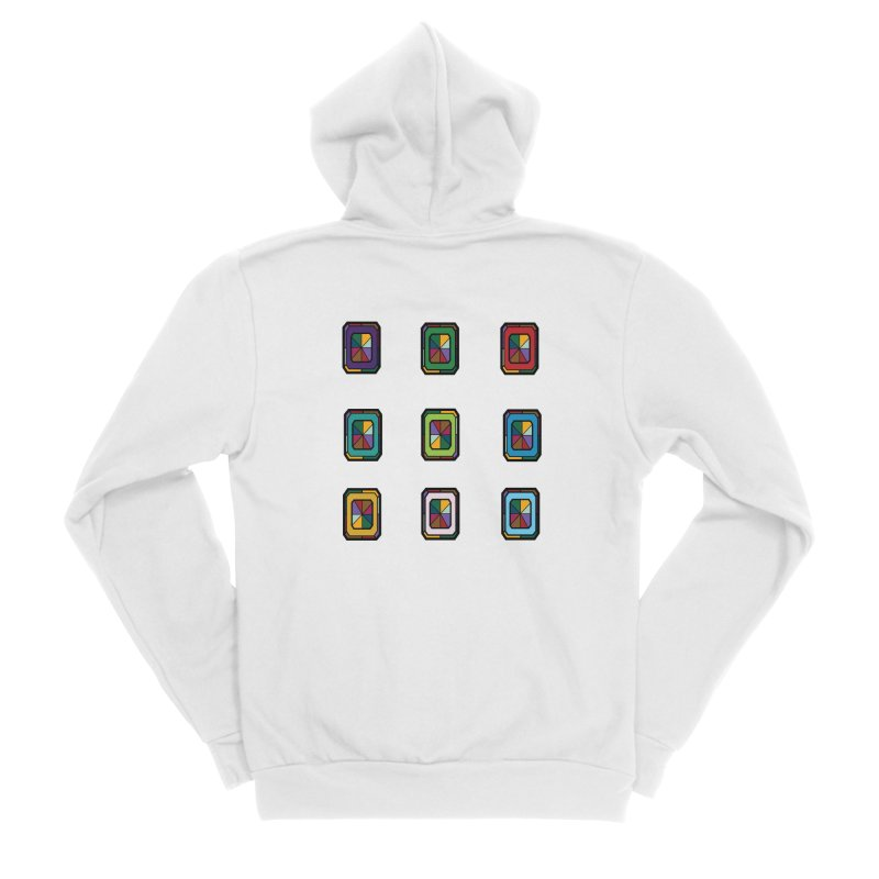 Stained Glass Gems Women's Sponge Fleece Zip-Up Hoody by Svaeth's Artist Shop