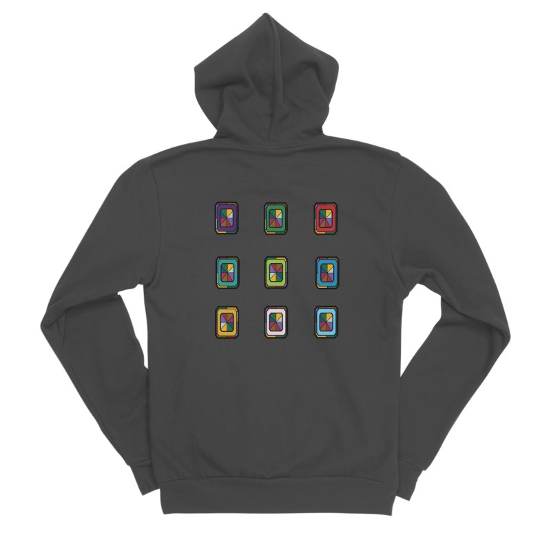 Stained Glass Gems Men's Sponge Fleece Zip-Up Hoody by Svaeth's Artist Shop