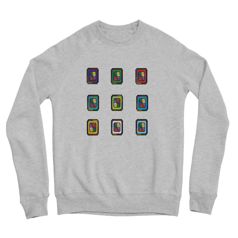 Stained Glass Gems Women's Sponge Fleece Sweatshirt by Svaeth's Artist Shop