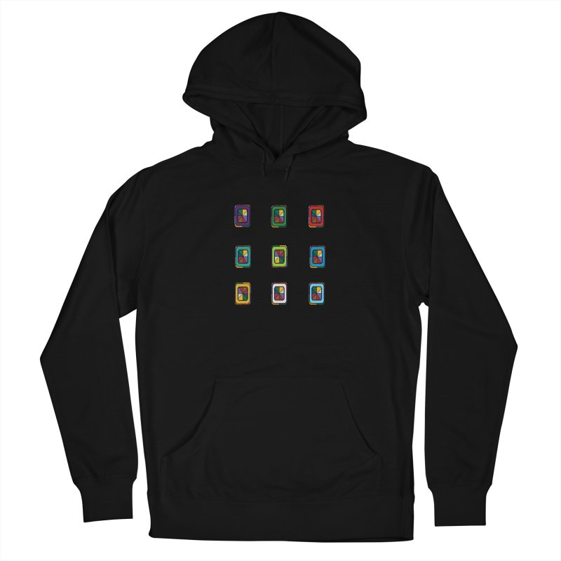 Stained Glass Gems Men's French Terry Pullover Hoody by Svaeth's Artist Shop
