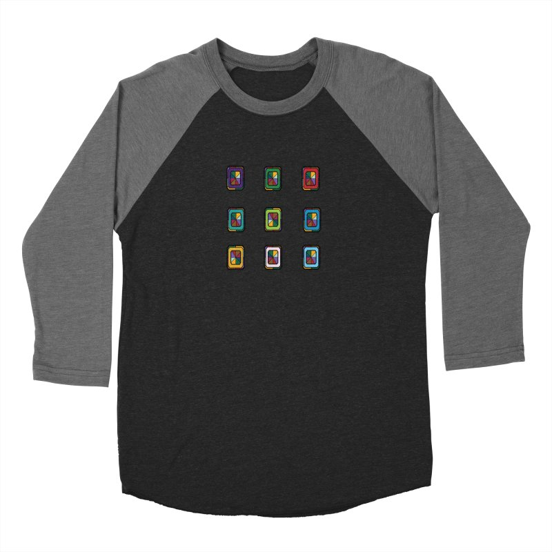 Stained Glass Gems Men's Baseball Triblend Longsleeve T-Shirt by Svaeth's Artist Shop