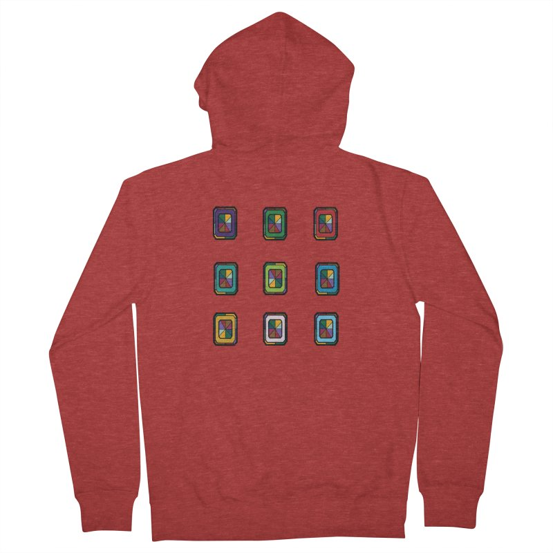 Stained Glass Gems Women's French Terry Zip-Up Hoody by Svaeth's Artist Shop