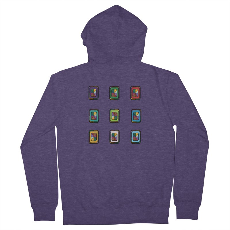 Stained Glass Gems Men's French Terry Zip-Up Hoody by Svaeth's Artist Shop