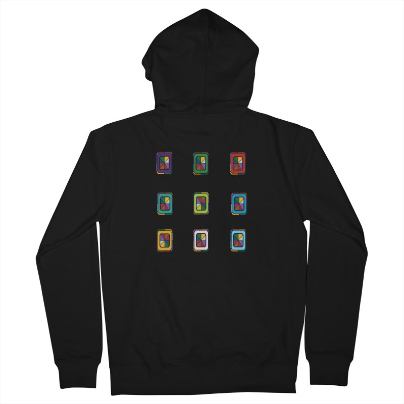 Stained Glass Gems Men's Zip-Up Hoody by Svaeth's Artist Shop
