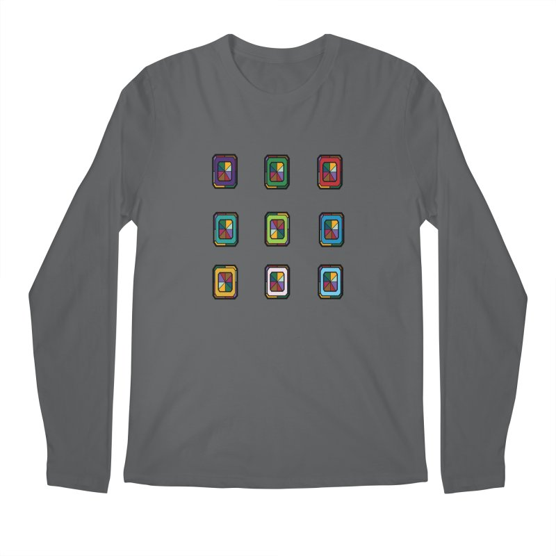 Stained Glass Gems Men's Longsleeve T-Shirt by Svaeth's Artist Shop