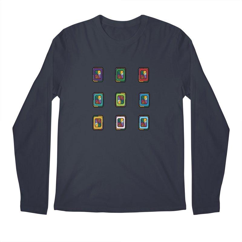 Stained Glass Gems Men's Regular Longsleeve T-Shirt by Svaeth's Artist Shop